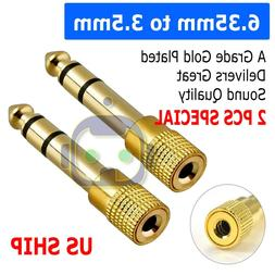 "6.3mm 1/4"" Male plug to 3.5mm 1/8"" Female Jack Stereo Headph"