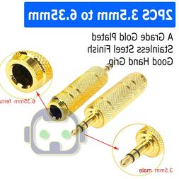 """3.5mm 1/8"""" to 6.3mm 1/4"""" Male plugFemale Jack Stereo Headpho"""