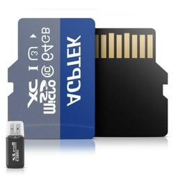 AGPTEK 64GB Class 10 Micro SD Card with reader, Compatible M
