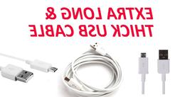 6FT Extra Long Micro USB Data Charger Cable For Samsung Gala