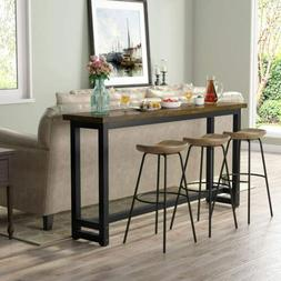 """71"""" Extra Long Industrial Sofa Table Rustic Console Table Na"""