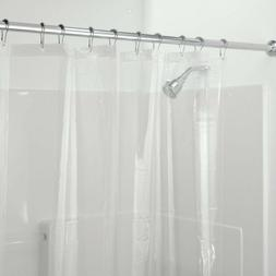 72x84 Clear Vinyl Shower Curtain Liner Extra Long Mildew Res