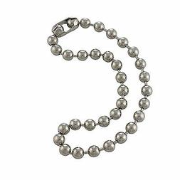 9.5mm Extra Large Steel Ball Chain Mens Necklace, Choker to