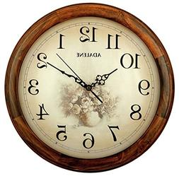 Adalene 14-Inch Wall Clock Large Decorative Living Room Cloc