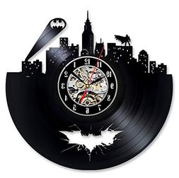 Vinyl Evolution Batman Arkham City Logo Best Wall Clock - De