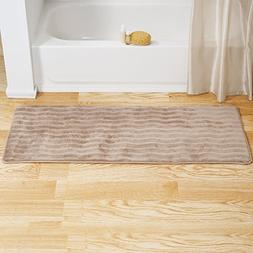 Bedford Home Memory Foam Extra Long Bath Rug Mat - Taupe - 2