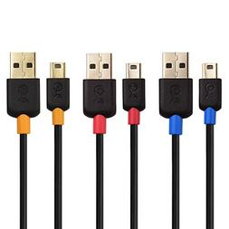 Cable Matters 3-Pack USB to Mini USB Cable  in Black 3 Feet