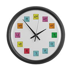 "CafePress - Periodic Table Clock - Large 17"" Round Wall Cloc"