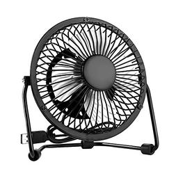 EasyAcc 4 Inch Mini USB Table Desk Personal Fan  Black