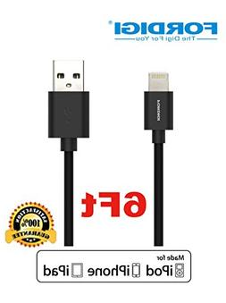 FORDIGI® APPLE CERTIFIED Extra Long  USB Sync and Charging