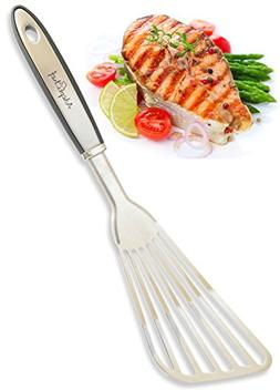 Fish Spatula - AdeptChef Stainless Steel, Slotted Turner - T