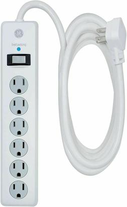 GE Power Strip Surge Protector, 6 Outlets, 10 ft Extra Long