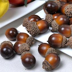 Gresorth 50pcs Artificial Lifelike Simulation Small Acorn Se