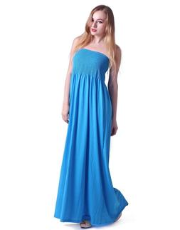 HDE Women's Strapless Maxi Dress Plus Size Tube Top Long Ski