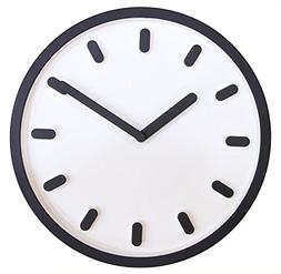 """JustNile 3D Modern Contemporary Solid Color Wall Clock - 12"""""""