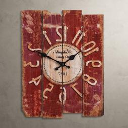 "Porch-O LightInTheBox 15"" Country Style Vintage Wall Clock H"