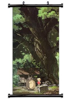 My Neighbor Totoro Anime Fabric Wall Scroll Poster  Inches.