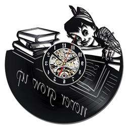 Peter Pan Baby Vinyl Record Wall Clock - Decorate your home
