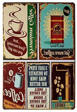 Premium Coffee Metal Tin Sign, Vintage Style Wall Ornament C