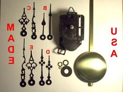 Quartz Pendulum Clock Movement Kit with 1 Set of Hands Out o