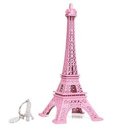 SICOHOME Eiffel Tower Decor,Pink Eiffel Tower Cake Topper,7.
