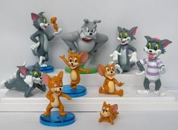 Tom and Jerry 9 Piece Play Set with 9 Tom, Jerry, and Spike
