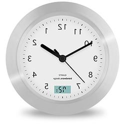 Trendworx 4044-2 Suction Cup Bathroom Clock with Digital The
