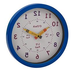 Unity Henley Children's Learn the Time Wall Clock, 10-Inch,