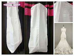 White Breathable Wedding Gown Prom Dress Garment Bag Extra L