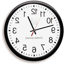 "Wholesale CASE of 10 - Charles Leonard 12"" Quartz Wall Clock"