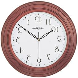 Seth Thomas Acadia White Dial Stained Brown Solid Wood Case
