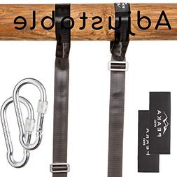 Extra Long  Adjustable Tree Swing Straps Hanging Kit - Safe