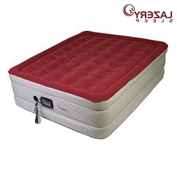 Lazery Sleep Air Mattress – Raised Electric Airbed with Bu