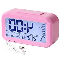HandAcc Digital Alarm Clock, Backlight LCD Large Display Sma