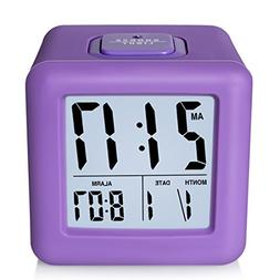 ZHPUAT Digital Alarm Clock with Protective Silicon Cover,Sma