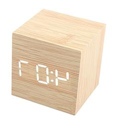 LED Digital Alarm Clock Sound Activated USB/AAA Batteries Po