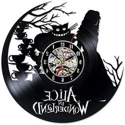 Alice In Wonderland Vinyl Record Wall Clock - Decorate your