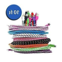 Android Charger Cord - Extra Long  Fiber Cloth