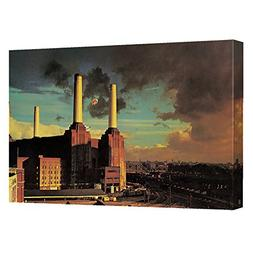 Pink Floyd Animals Canvas Wall Art With Back Board 20X30 Whi