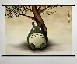 Anime My Neighbor Totoro Home Decor Wall Scroll Poster Fabri