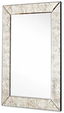 Large Antiqued Framed Wall Mirror 3.5 inch Antique Frame Rec