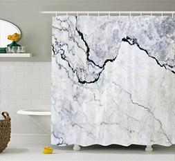 Apartment Decor Shower Curtain by Ambesonne, Marble Textured