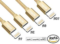 Miger 4Pack  Apple Certified Nylon Braided Lightning Cable C