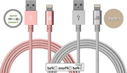 LAX Gadgets Apple MFi Certified Braided Lightning Charger Ca