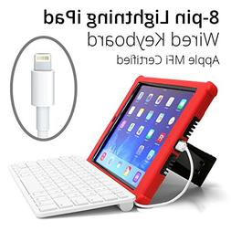 Hitek iPad Wired Keyboard, MFI Certified, Made for K-12 Scho