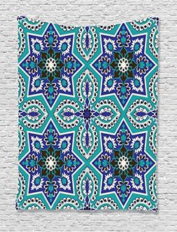 Ambesonne Arabian Decor Collection, Arabesque Pattern Tradit