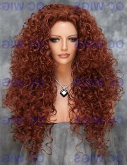 Auburn Red Full Body Extra Long Spiral Curly Synthetic Hair