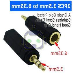 "Audio 3.5mm Male to 6.35mm 1/4""  Female Jack Stereo Adapter"