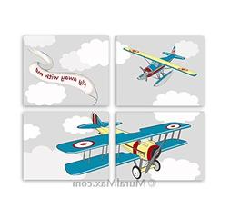 MuralMax - Aviation Airplane Decor - Fly Away With Me - Unfr