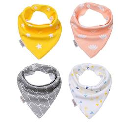 Baby Bandana Bib Set,4-Pack Super Absorbent Drool Bandana Bi